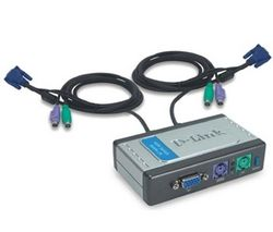 ПЕРИФЕРИЯ KVM SWITCH D-LINK DKVM-2K 2port PS/2